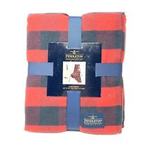 Pendleton Home Collection Red Black Flannel 50x70Rob Roy Luxe Throw Blanket
