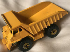 1997 Matchbox Dirt Haulers Dump Truck with Cat tampo on bed & Lever To Tilt Bed