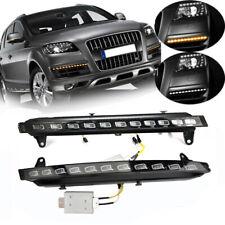 Pair For Audi Q7 2007~2009 LED Daytime Running Light DRL Turn Signals Fog Lamps