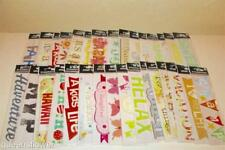 ME & MY BIG IDEAS SMALL TALK & EMBELLISHMENT STICKERS LOT OF 31 PACKAGES