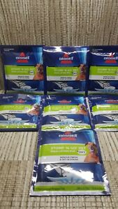 Lot of 7 Bissell Stomp 'N Go Pet Stain Lifting Pads + Oxy for Carpet/Upholstery
