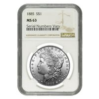 Silver Morgan Dollar NGC MS 63 (Random Year, 1878-1904)