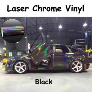 Holographic Laser Chrome Vinyl Car Body Wrapping Film Air Release Film Sticker