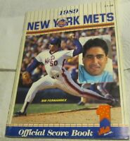 1989 New York Mets Official Score Book and Tickets to June 24 Phillies Game