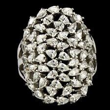 Sterling Silver 925 Genuine Bright White Lab Diamond Ring Size Q1/2 US 8.5