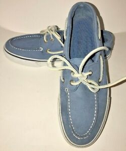 Men's Sperry Top Sider Blue Suede Boat Shoes Shoes Size 8 M