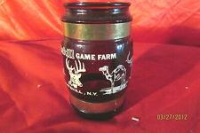 Vintage Catskill Game Farm Siesta Ware Ameber Mug Wood Handle