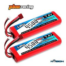 NVision Sport 4500 7.4v 45C Lipo RC Batteria HARD CASE DEANS Twin Pack NVO1109