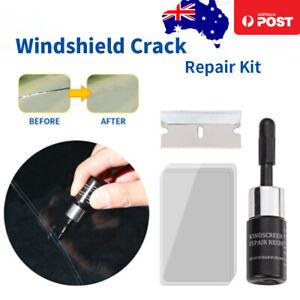 2x Automotive Glass Nano Repair Fluid Kit Windshield Crack Scratches Repair Tool