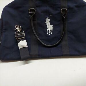 Authentic Ralph Lauren Polo Weekend Hand Bag travel Weekender Blue duffle.