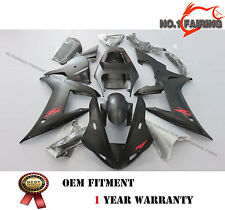 Red Words Black ABS Pre-drilled Fairing kit Bodywork for Yamaha YZF R1 2002 2003