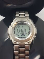 Unisex Stainless Talking Watch 4 Alarm Feature, Stop Watch, 12 Hour New Watch