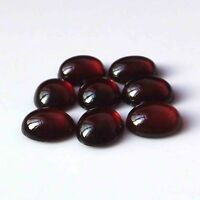 AAA+10X8 MM Oval Shape Natural Hessonite Garnet Cabochon Cut Calibrated Gemstone