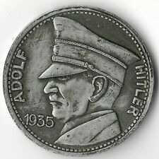 Rare German Leader WWII WW2 Germany 5 Reichsmark Eagle Collection War Coin Token