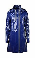 7792Elie Tahari Womens Zip Front Long Sleeve Hooded Molly Coat blue X-Large $398