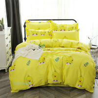 Yellow Duck Single/Double/Queen/King Bed Quilt/Doona/Duvet Cover Set Cotton
