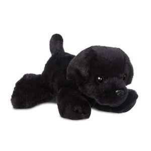 NEW AURORA 20cm FLOPSIES PLUSH BLACK LABRADOR CUDDLY SOFT TOY PUPPY DOG TEDDY