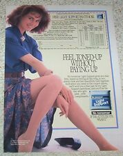 1988 ad page - No Nonsense Support Pantyhose sexy girl legs vintage Print ADVERT
