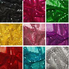 6mm Sequin Jersey Shiny Sparkly Nylon Fabric Fancy Dress Metallic Costume