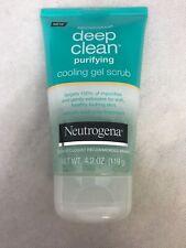 Neutrogena Deep Clean Purifying Cooling Gel and Exfoliating Face Scrub, 4.2 oz
