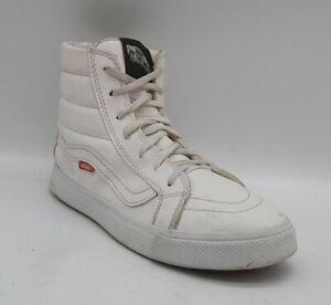 Unisex COOL VANS Festival Size 6.5 UK 40 EU WHITE Hi-Top Skater Boots Laced EUC