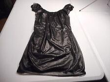 Shelly Steffee Womens Small Metallic Black Short Sexy Dress