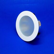 """Elite Lighting B437WH Smooth Frost Shower Trim, 4"""", White B437   * Lot of 2 *"""