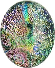 """Lanna 17mm x 21mm"" hand made kiln fired Fused Dichroic Glass Cabochon RELEI"