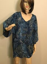 Women's Plus Size 3X ~ MAGGIE BARNES For Catherines GORGEOUS TUNIC TOP / Shirt