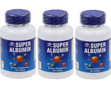3 Bottles Super Albumin 500 mg 100 Tablets, FRESH, Make In USA, FREE US SHIPPING