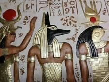 RELIEF ANUBIS ÄGYPTISCHE FLACHRELIEF ÄGYPTEN WANDRELIEF WANDBILD SKULPTUR HATHOR