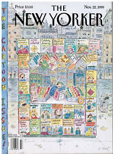 New Yorker November 22, 1999. THE CARTOON ISSUE, COVER BY ROZ CHAST. PRISTINE.