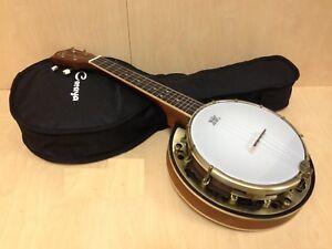 Caraya 4-String Banjo Ukulele,Concert Size,Satin Finish w/Free gig bag SBJUK-118