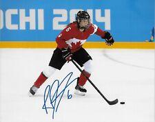 Auto. Rebecca Johnston Team Canada 2014 Sochi Olympics Womens Hockey 8x10 Ph #3