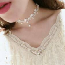 Woman Handmade Gothic Fashion White Vintage Lace Women's Choker Necklace