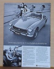 1973 magazine ad for MG - Midget, on road Sports Car, for budget economy car