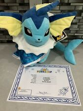 New Build A Bear Pokémon Vaporeon With Sound Cape Limited Ediiton