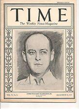 Time Magazine December 28, 1925 James Wolcott Wadsworth Jr