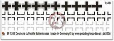 Peddinghaus 1/48 Balkenkreuz (Iron Cross) German Luftwaffe WWII (3 types) 1301