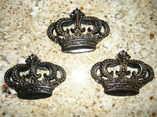 Set of 3 Crowns Wall plaques Tuscan Medieval Old World Royal Princess Hand Made