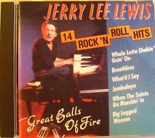 JERRY LEE LEWIS (CD) GREAT BALLS OF FIRE 14 ROCK N ROLL HITS