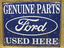 Ford Parts Used Here Tin Metal Sign Car Truck Tough NEW