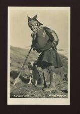 Norway KARASJOK Traditional Costume Dress Fashion c1920/30s? RP PPC
