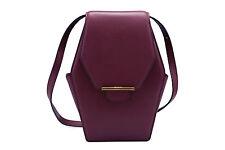 REVELRY | RUE DIAMOND leather shoulder bag SANGRIA