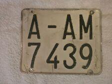 SPAIN ALICANTE LAMBRETTA VESPA MOPED MOTORCYCLE 1970s # A-AM 7439 LICENSE PLATE
