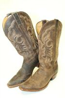 Shyanne Womens 6.5 B Tall Brown Patina Distress leather Cowboy Western Boots