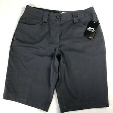 Slazenger Women's Golf shorts Size 4 dark gray Hydro-Dri NWT athletic