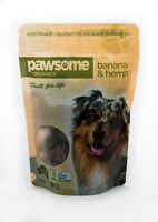 Pawsome Organics Certified Organic Banana and Hemp Dog Treats Plant Based