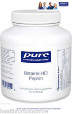 Pure Encapsulations Betaine HCL Pepsin 250 Vcaps - Exp Date: 10/2018