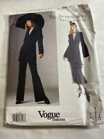 Vintage 90'S VOGUE SEWING PATTERN 1197 DONNA KARAN NEW YORK Uncut 6-8-10